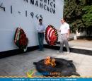 Сотрудники Темрюкской налоговой инспекции возложили венок к мемориалу Защитников Отечества, погибших в годы ВОВ