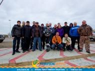 Участники автопробега Азовское кольцо в Темрюке