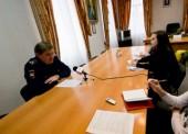 Начальник ДПС Анапы, курирующей Темрюкский район, встретился с журналистами