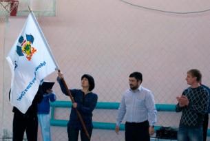 Флаг Всекубанской акции «Кубань – навстречу Играм в Сочи!»