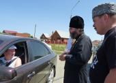 В Темрюкском районе в профилактике ДТП приняли участие атаман станицы Голубицкой и протоиерей отец Илья
