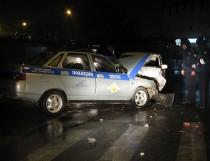 В Темрюке пьяный водитель врезался в машину ДПС