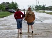 Последствия наводнения в Темрюке