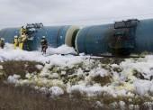 Сход цистерн с нефтепродуктами в Темрюкском районе произошел из-за хищения стыковых накладок рельс