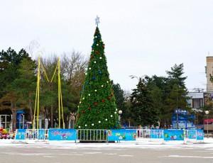 Новогодняя елка в Темрюке