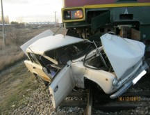 ДТП произошло на ЖД переезде в Темрюкском районе