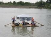 Фото со сплава на плоту по Кубани в 2012 году