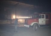На темрюкском складе потушили пожар
