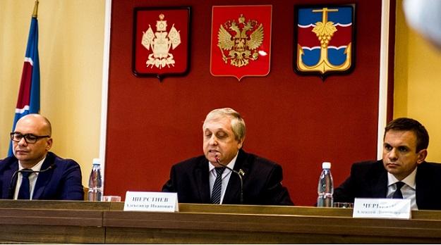 Сессия Совета депутатов. Шерстнев, Робилко, Черненко