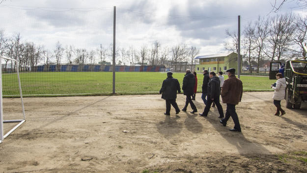 Стадион в районе АЗС Лукойл в Темрюке