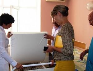В ЦРБ Темрюка установили новые кровати для пациентов