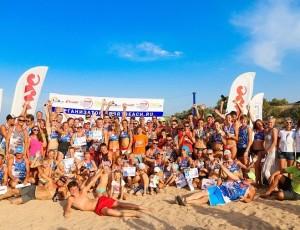 На Темрюкском районе финишировал Всероссийский автопробег по пляжному волейболу