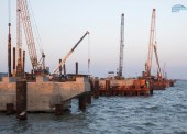 200 из 595 опор моста в Крым возвели строители