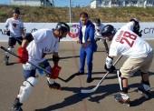 В Темрюке открылась площадка для хоккея на роликах