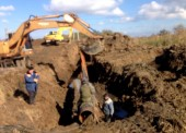 В Темрюкском районе специалисты ГУП КК «Кубаньводкомплекс» заменили аварийный участок магистрального водопровода