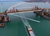 Завершено строительство автодорожных пролетов Крымского моста