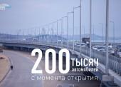 Более 200 тысяч транспортных средств проехали по Крымскому мосту с момента его открытия