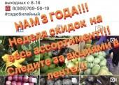 Сад Юбилейный продаёт овощи и фрукты по оптовым ценам