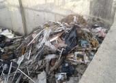 Пожар несанкционированной свалки в ст. Тамань