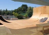 Монтаж скейт-площадки в Темрюке выполнен на 80%