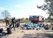 300 мешков мусора собрали волонтеры на берегу Азовского моря