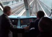 Путин в Тамани показал участок дороги, который отодвинут с побережья