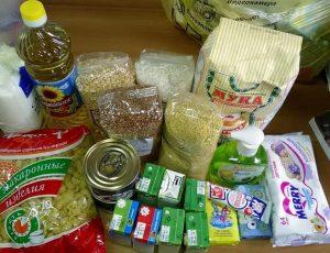 Продуктовые наборы выдадут нуждающимся семьям