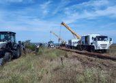 В поселке Веселовка специалисты ГУП КК «Кубаньводкомплекс» заменили 60 метров аварийного водовода