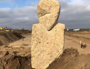 В Темрюкском районе нашли древнюю скульптуру