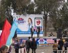 Сцена на площади у ДК в Вышестеблиевкой