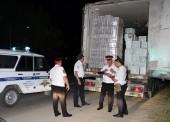 Фуру с водкой, замаскированной туалетной бумагой, задержали в Темрюке