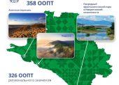 На Кубани образовано 358 особо охраняемых природных территорий